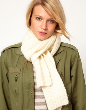 Image 1 ofOasis Fisherman&#39;s Ribbed Scarf