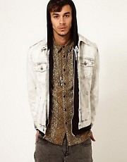 ASOS Denim Jacket With Bleach