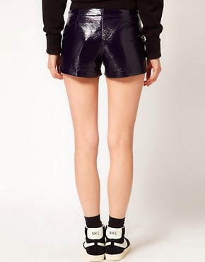 Image 2 ofASOS WHITE Cracked PU Shorts