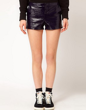 Image 4 ofASOS WHITE Cracked PU Shorts