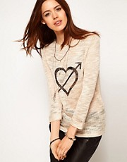 ASOS Jumper With Heart And Arrow