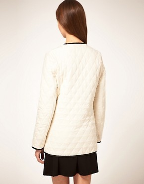 Image 2 ofASOS Collarless Quilted Jacket