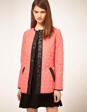 Image 1 ofASOS Collarless Quilted Jacket
