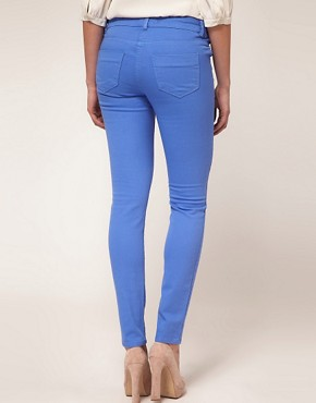 Image 2 of ASOS MATERNITY Skinny Jean in Cornflower Blue #4
