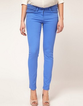 Image 4 of ASOS MATERNITY Skinny Jean in Cornflower Blue #4