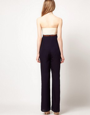 Image 2 ofTed Baker Jumpsuit With Contrast Bustier Detail