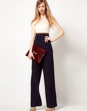 Image 4 ofTed Baker Jumpsuit With Contrast Bustier Detail
