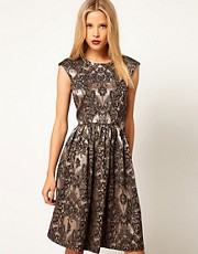ASOS Skater Dress In Baroque Print