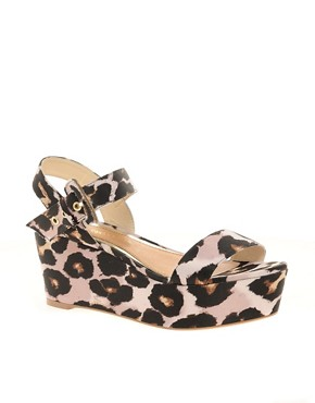 Image 1 ofRiver Island Leopard Print Wedges