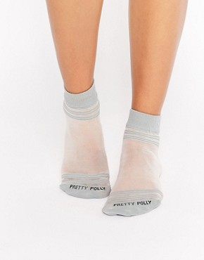 Pretty Polly Sheer Top & Toe Stripe Sock