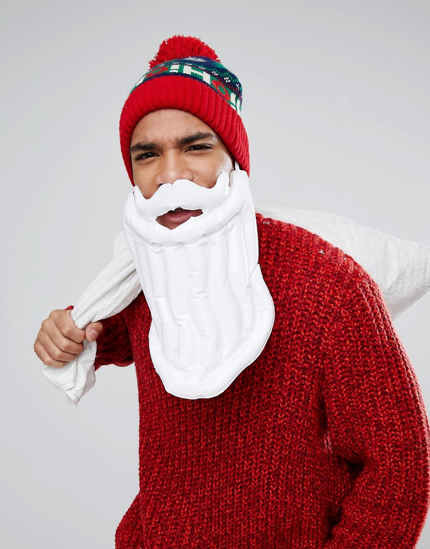 NPW Festive Holidays Inflatable Beard - Multi