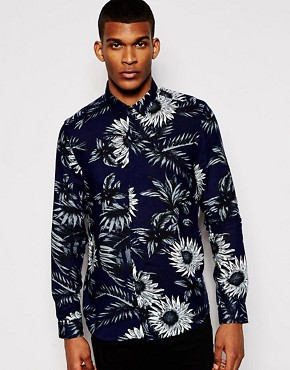 ASOS Shirt In Long Sleeve With Floral Print
