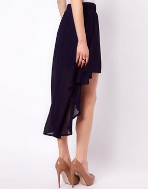 Image 2 ofClub L Dipped Hem Skirt