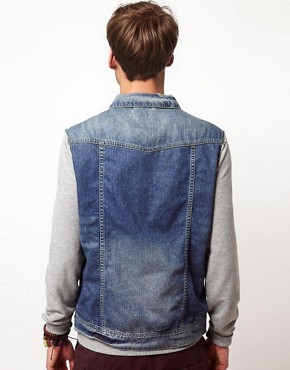 Image 2 ofRiver Island Sleeveless Denim Jacket