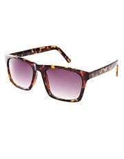 ASOS Flat Square Sunglasses in Tortoishell