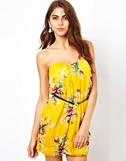 Jarlo Printed Bandeau Dress With Belt