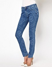 Mih Jeans Breathless Bandanna Print Skinny Jeans