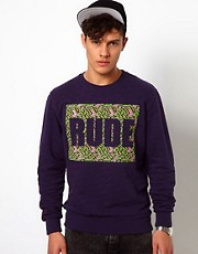 Beck & Hersey Sweat with Rude Print