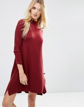 ASOS Knit Tunic Dress in Cashmere Mix