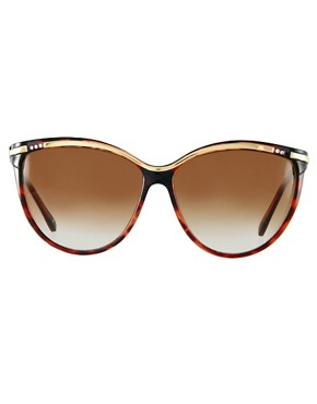 Image 2 ofJeepers Peepers Vintage Brown &amp; Gold Cateye Sunglasses