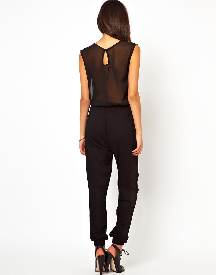 Image 2 of ASOS Jumpsuit With Sheer Back