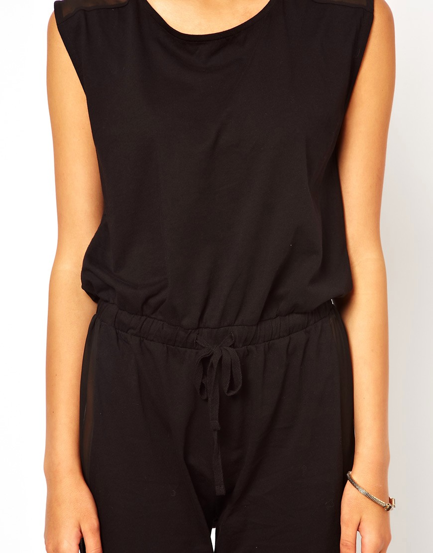 Image 3 of ASOS Jumpsuit With Sheer Back