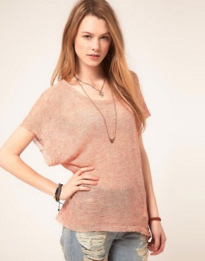 Image 1 ofFree People Sheer Jersey Panel Print Top