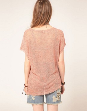 Image 2 ofFree People Sheer Jersey Panel Print Top