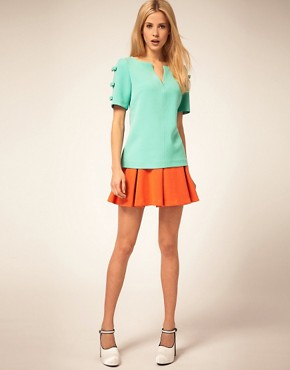 Image 4 ofASOS Shell Top With Bow Sleeve