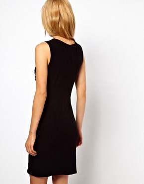 Image 2 ofASOS Bodycon Dress With Embellished Cross