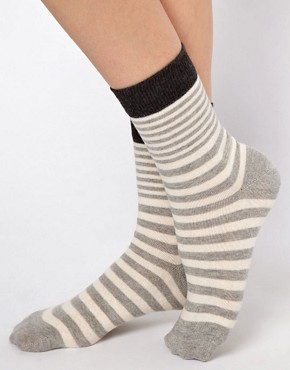 Image 2 ofASOS 3 Mix Pattern Pack Ankle Socks