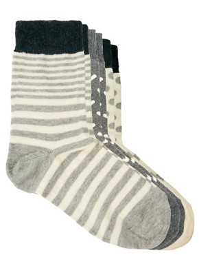 Image 4 ofASOS 3 Mix Pattern Pack Ankle Socks