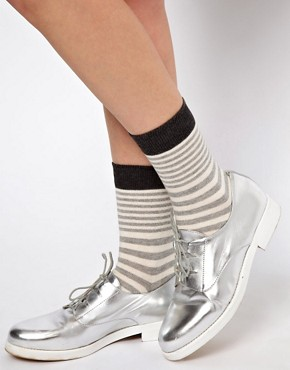 Image 1 ofASOS 3 Mix Pattern Pack Ankle Socks