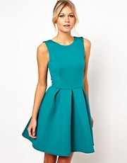 ASOS Structured Skater Dress in Bonded Fabric