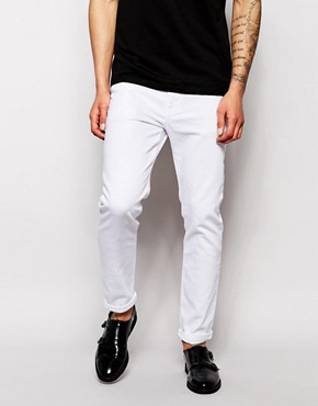 ASOS Skinny Jeans In 11.5oz White Denim