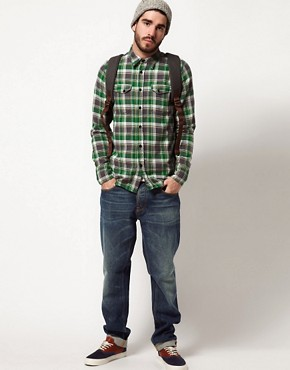 Image 4 ofNudie Organic Gunnar Check Shirt