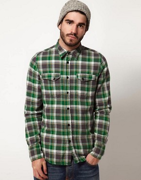 Image 1 ofNudie Organic Gunnar Check Shirt