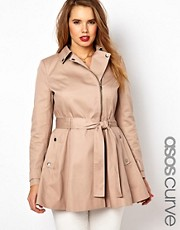 ASOS CURVE Fit &amp; Flare Biker Mac