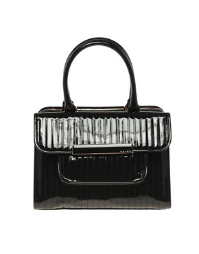 Image 1 ofTed Baker Enamel Flap Pocket Bag