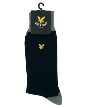 Image 3 ofLyle &amp; Scott Plain Logo Socks