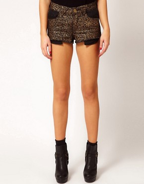 Image 4 ofRiver Island Paisley Print Denim Short