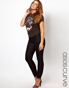Image 1 ofASOS CURVE High Waisted Party Pant