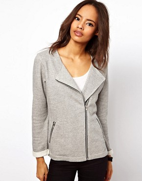 Image 1 ofASOS Biker Jacket in Textured Marl