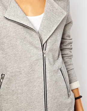 Image 3 ofASOS Biker Jacket in Textured Marl