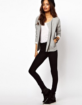 Image 4 ofASOS Biker Jacket in Textured Marl