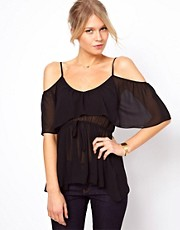 ASOS Cami With Ruffle And Elasticated Waist