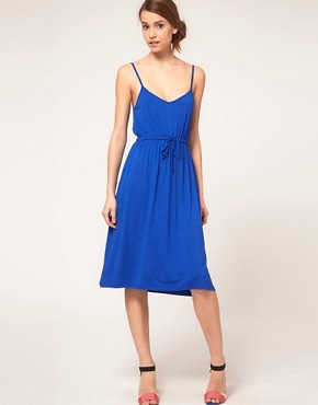 Image 1 ofASOS Midi Summer Dress With Tie Waist