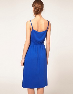 Image 2 ofASOS Midi Summer Dress With Tie Waist