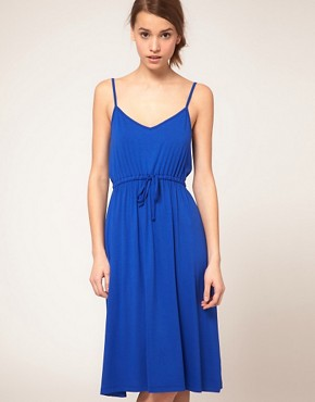 Image 4 ofASOS Midi Summer Dress With Tie Waist