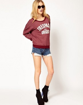 Image 4 ofWildfox Trespass Sweetly Urged Sweatshirt